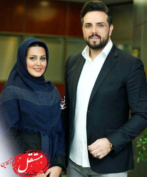 مجری خوشتیپ تلویزیون و همسرش + عکس
