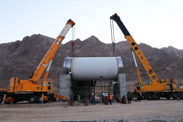 نصب بزرگترین آسیای گلوله ای صنعت سرب و روی کشور در مهدی آباد