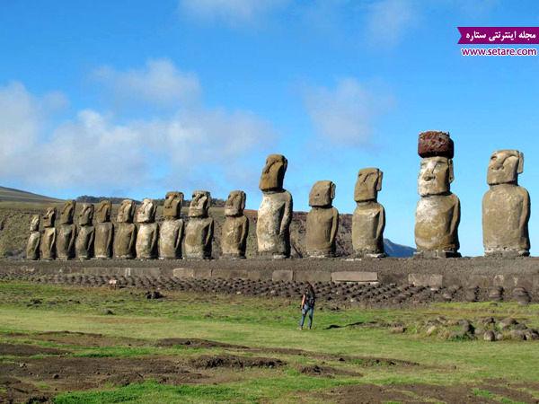 جزیره ایستر، شیلی، عجایب جهان، مجسمه های جزیره ایستر، مجسمه پارو شیلی