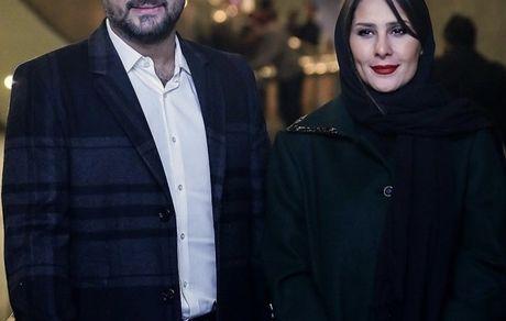 بازیگر چشم روشن سینما در کنار عسل خانمش + عکس