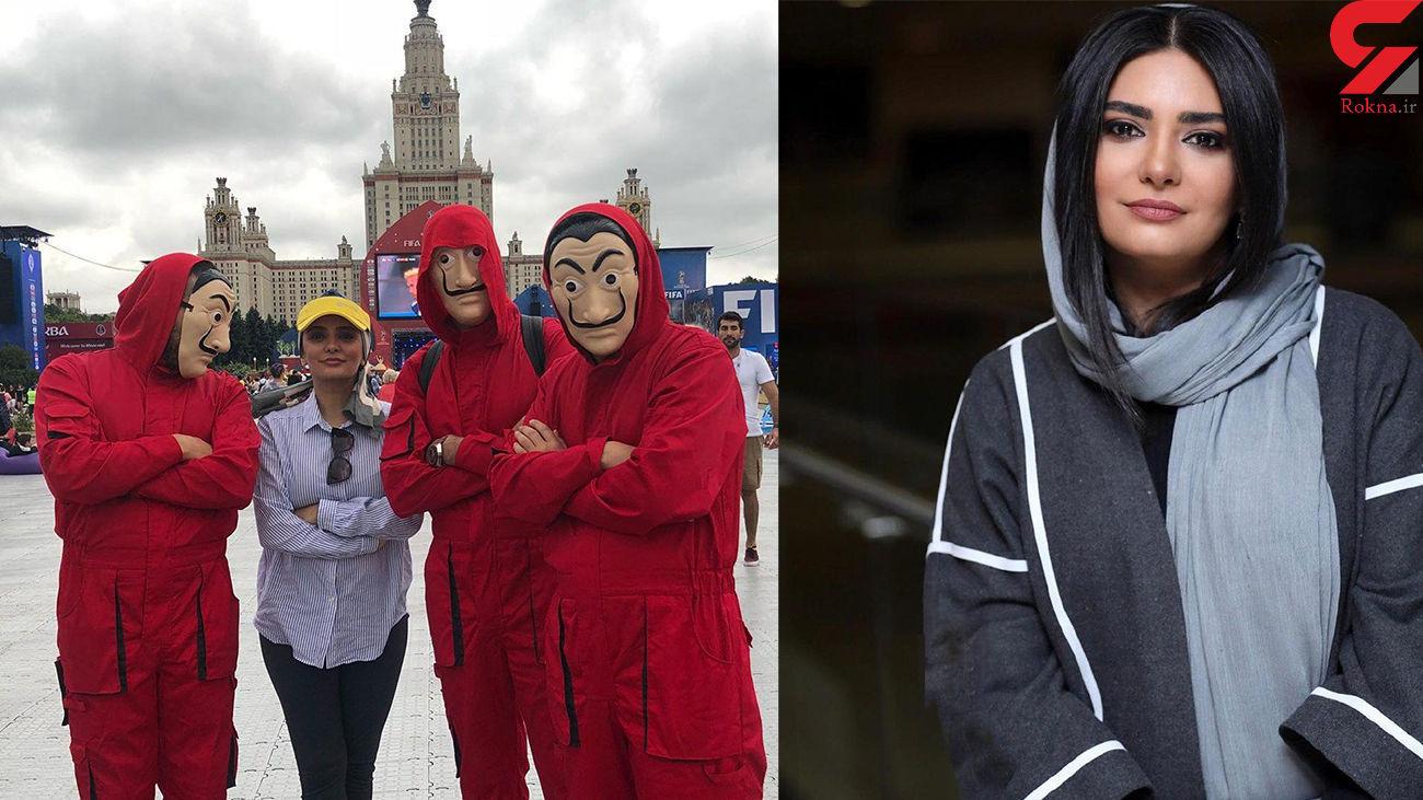 انتشار عکس لیندا کیانی در خارج از کشور در کنار مردان قرمز پوش