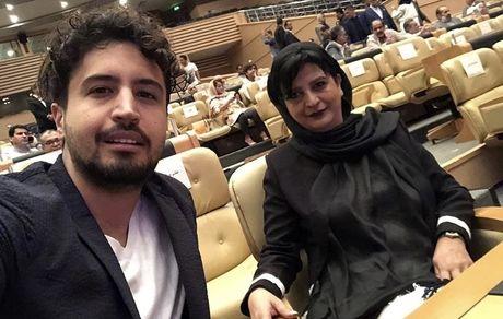 مهرداد صدیقیان و مادرش در یک مراسم + عکس