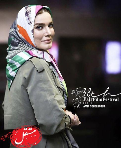 پوشش متین ستوده در سی و هشتمین جشنواره فجر + عکس