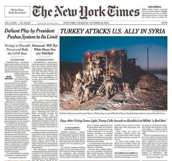 ترکیه به متحد آمریکا در سوریه حمله کرد