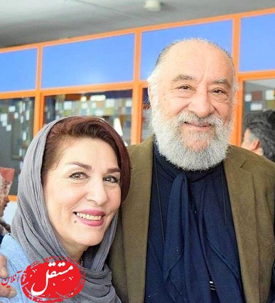 حشمت فردوس و همسرش + عکس