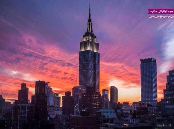 ساختمان امپایر استیت، نیویورک، آمریکا، آسمان خراش