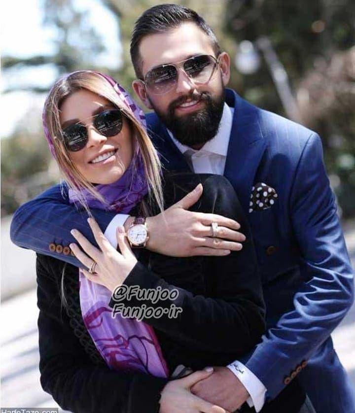 عکس عاشقانه محسن افشانی و همسرش جدید 99 فان جو