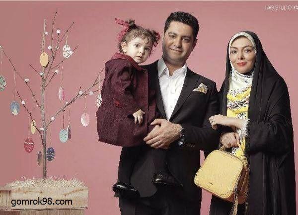 آزاده نامداری و همسرش + عکس