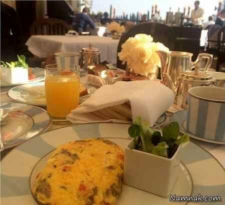 میز صبحانه الناز شاکردوست در رم