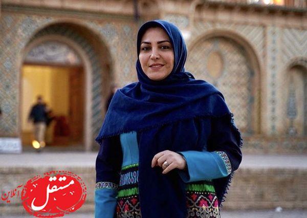خانم مجری در مکانی تاریخی + عکس