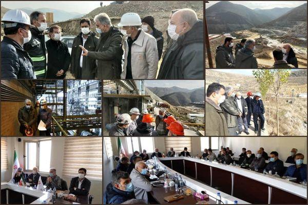 مدیرعامل شرکت مس از طرحهای توسعهای مجتمع مس سونگون بازدید کرد