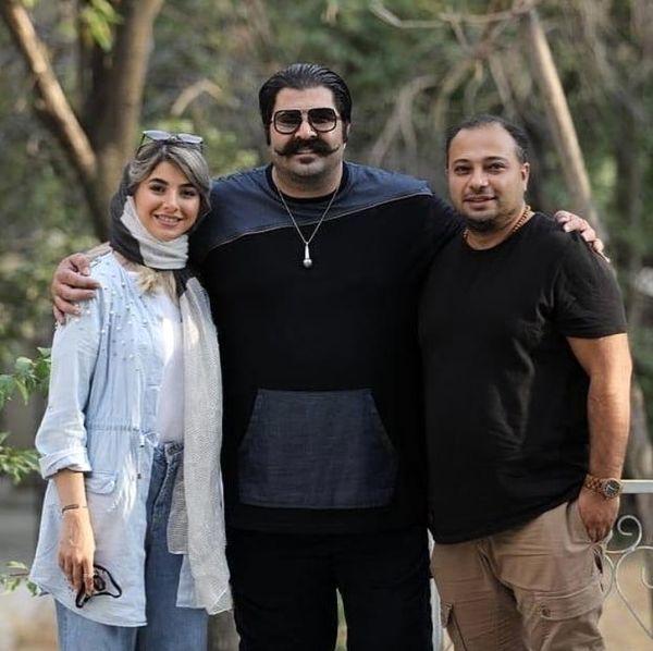 بهنام بانی در کنار خواهر وشوهر خواهرش + عکس