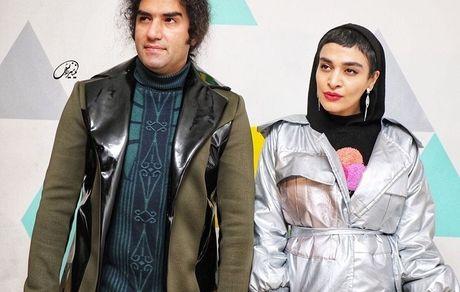همراهمی رضا یزدانی با خانم بازیگر در یک مراسم + عکس