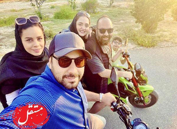کیش گردی احسان خواجه امیری با زوج مشهور + عکس