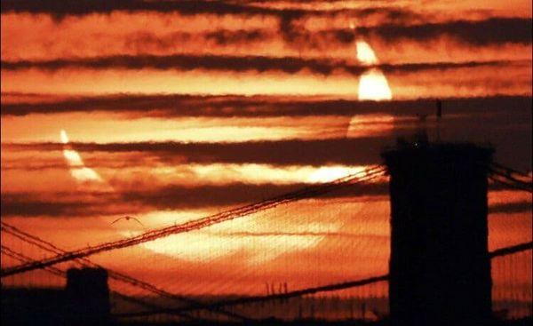 تصاویری از خورشید گرفتگی حلقه آتش