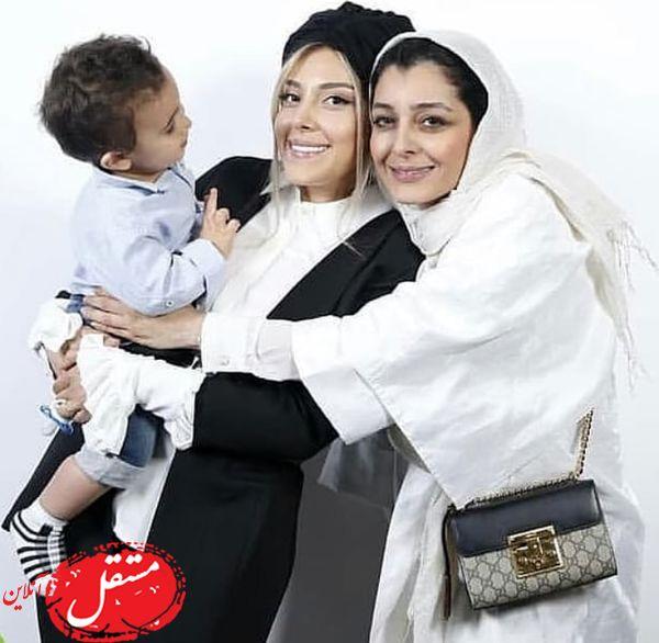 ساره بیات به همسر و فرزند فوتبالیست مشهور + عکس