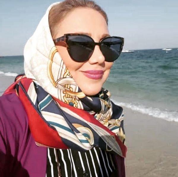 بهنوش بختیاری لب ساحل دریا + عکس