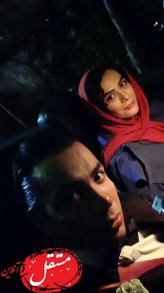 گردش های شبانه مارال فرجاد و آقای بازیگر + عکس