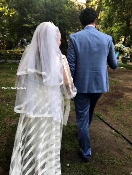 عکس لو رفته و زیبای بهاره رهنما در لباس عروس