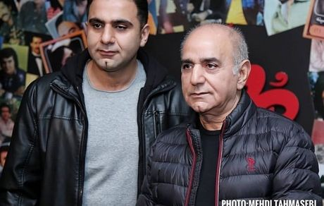 پرویز پرستویی و پسرش در اکران خصوصی مطرب + عکس