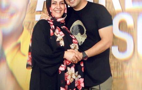 علیرضا طلیسچی و مادرش + عکس
