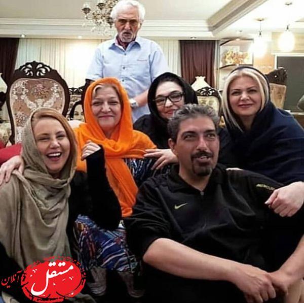 بهنوش بختیاری در میان خانواده اش + عکس