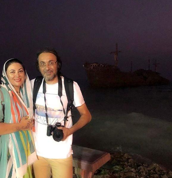 کیش گردی خانم بازیگر و برادرش + عکس