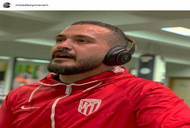میلاد کی مرام در حال ورزش کردن + عکس