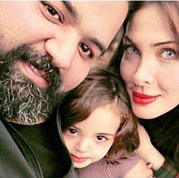 جدیدترین عکس رضا صادقی و همسر و دخترش