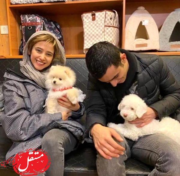 سگ های بانمک الناز حبیبی و علی شادمان + عکس