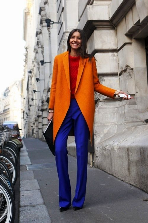 ست رنگ نارنجی با قرمز و آبی