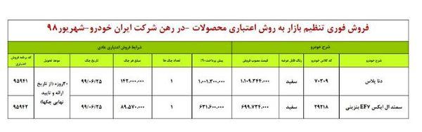 """طرح جدید فروش اقساطی محصولات """" ایران خودرو"""""""