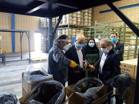 بازدید عضو هیأت عامل بانک صنعت و معدن از واحدهای تولیدی استان سمنان