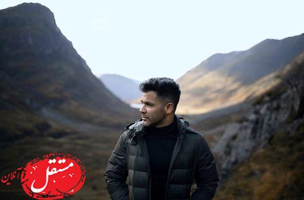 ژست پشت کوهی آقای خواننده + عکس